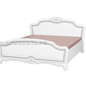 """Кровать """"Белый жемчуг лак"""""""