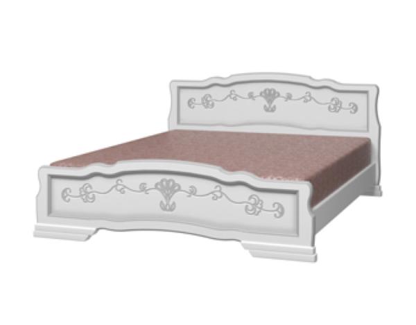 """Кровать """"Белый жемчуг"""" лакированная"""