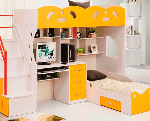 Экономим пространство в детской комнате.